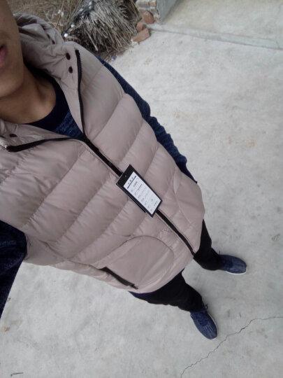 瑪獅路(MASILOU)秋冬新品羽绒棉衣马甲男外套加绒加厚连帽短款男士背心外套 桔色 XL 晒单图