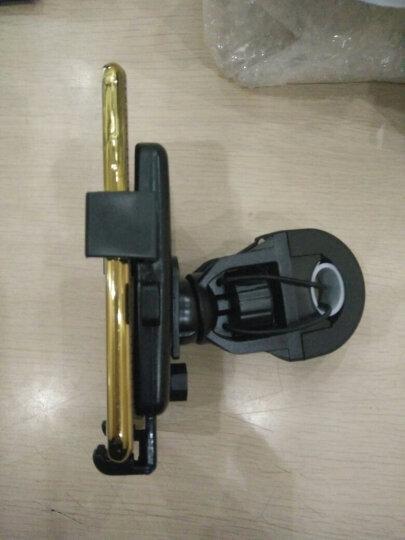 双文 通用摩托车自行车手机支架山地车电瓶车手机架GPS导航手机支架 黑白色骑行头盔 晒单图