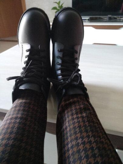 雨时代(YUSHIDAI) 时尚雨鞋女式韩国雨靴马丁鞋猎人机车胶鞋水鞋 CD XDB 酒红色 38 晒单图