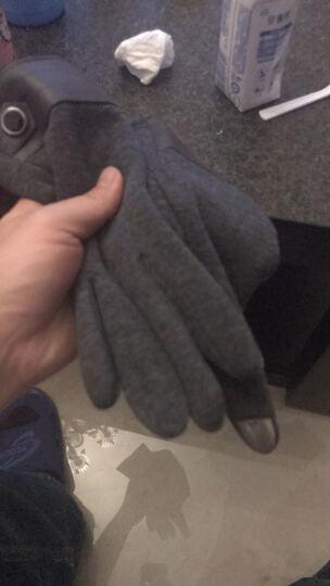iClever 冬季保暖触屏手套户外运动开车保暖手套 男士-灰色均码 晒单图