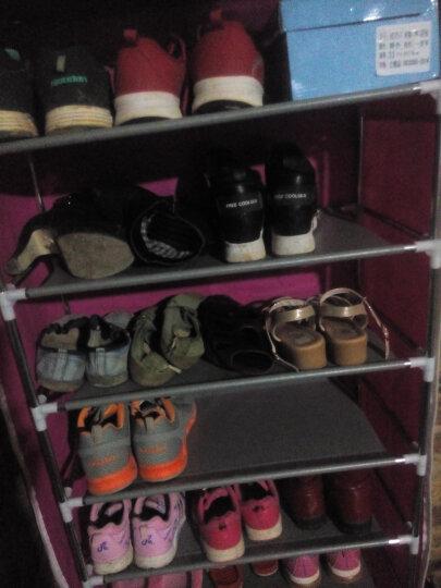 俏丹优品 简易鞋架 多层防尘鞋柜 收纳置物架 宿舍用小鞋架 四层三格 蓝莲花 晒单图