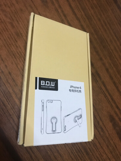 B.O.W 航世 苹果6/s/p手机壳防摔全包保护壳 适用于iPhone6/s/plus 4.7寸6/6S透白+白色支架 晒单图