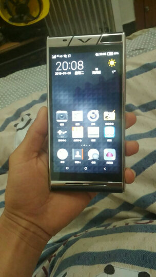 铂爵(BIOJUET) V7 高端智能商务手机 轻奢太空精钢 双卡双待 鳄纹皮爵士黑 晒单图