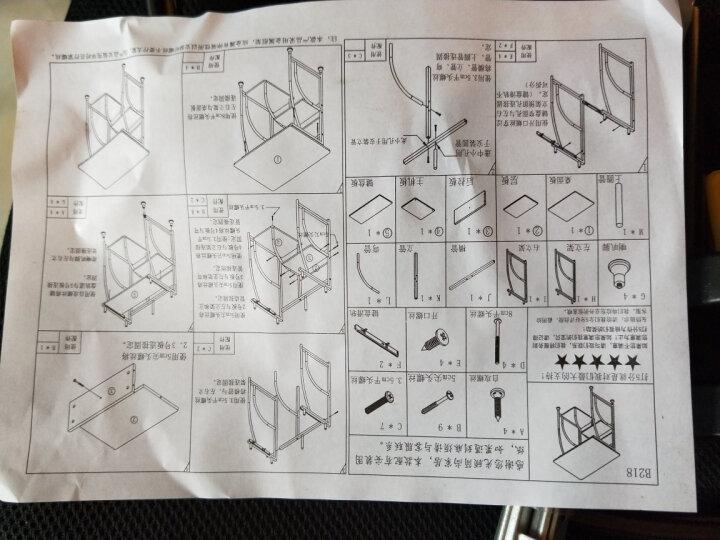 简约台式电脑桌办公桌子 学生写字小书桌彩绘钢琴面电脑台 时尚 家用 18年新款迷你枫樱木 晒单图
