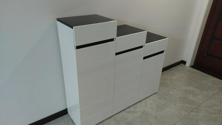 华纳斯(HUANASI) 华纳斯 鞋柜 储物玄关门厅柜 鞋架 单个黑白鞋柜(右高左低) 晒单图