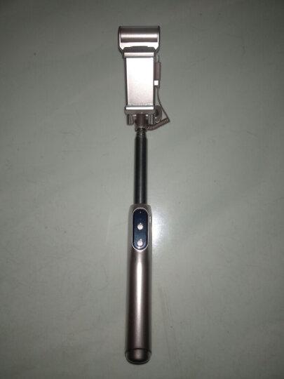 毕亚兹(BIAZE) 无线蓝牙自拍杆/自拍器 带补光灯 通用苹果7plus手机/华为/oppo/魅族/华为 U17-金 晒单图