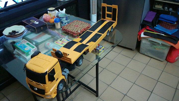 双鹰 奔驰Arocs无线遥控汽车半挂车工程车挖掘机用平板拖车儿童玩具车 双鹰奔驰平板拖车 晒单图