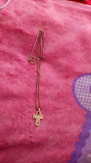 伍玥银匠 伍玥情侣手链一对同心锁腰带玫瑰金十字架吊坠钥匙项链可刻字礼物 玫瑰金 晒单图