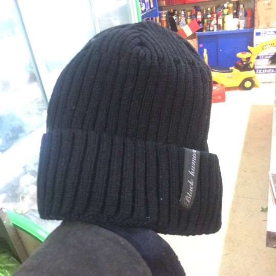 喀吱coolcheer毛线帽男布标冬季加绒保暖套头帽子包头帽户外防寒加厚棉帽 灰色 M(56CM-29CM) 晒单图
