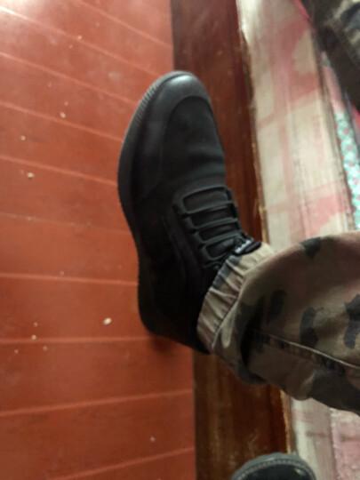 热风2019夏季新款男鞋子百搭潮流厚底时尚松紧带男士休闲户外鞋 01黑色 38(正码) 晒单图