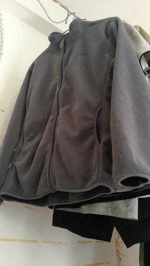 【夹克男】【88一件送袜子】富贵鸟品牌男装 春季新品男士纯色抓绒加夹克户外休闲外套 军绿色 XXL 晒单图