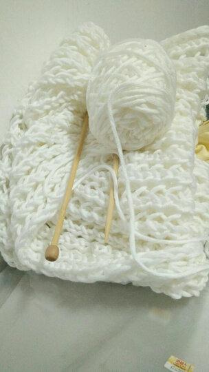 围巾线牛奶棉粗毛线团男女手织围巾毛线粗线编织情人棉 004秋菊 晒单图