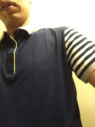戈思哲 短袖T恤男2019夏季翻领纯棉修身半袖打底衫夏天男装半截袖体恤POLO衫 1611蓝色 XL 晒单图