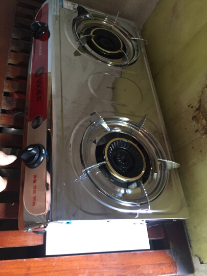 唯开(vvk) 燃气灶液化气天然气双灶炉灶台式煤气灶煤气炉灶具炉具 不锈钢 【经典口碑爆款】加厚不锈钢面板+钢火盖+标配 灌装液化气 赠送气管*1+气管夹*2 晒单图