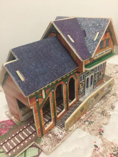 若态Robotime拼图DIY手工拼装木质小屋模型 3D立体拼图建筑儿童大人成年人益智玩具 美国公路加油站F137(立体建筑拼图玩具) 晒单图