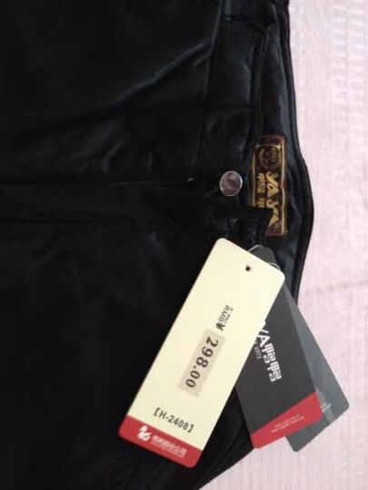 鸭鸭直销|秋冬羽绒裤女士修身型黑色长裤加厚保暖裤H-2408 黑色B码 160 晒单图