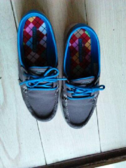 斯凯奇(skechers)潮流帆布鞋女 舒适低帮休闲鞋 系带豆豆鞋健步帆船鞋13563 蓝绿色C 36 晒单图