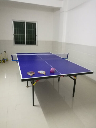 DHS/红双喜乒乓球桌 家用可折叠标准室内乒乓球台 室外多款可选 健身运动器材 赠品乒乓球拍 晒单图