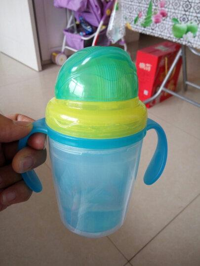 摩尔西夫 吸管杯宝宝 双层隔热学饮杯 防烫水杯 婴幼儿童带手柄防漏水杯 小兔黄色 晒单图