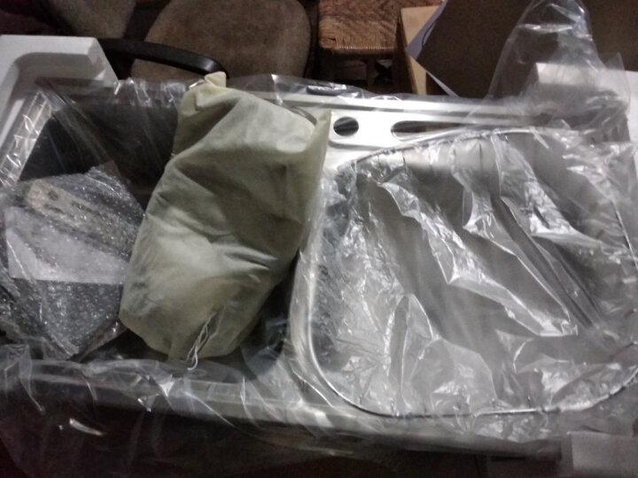苏泊尔(SUPOR)水槽双槽洗菜盆龙头套装 台上台下厨房双槽304不锈钢防污厨盆 刀架款双槽78*43+鹅颈龙头 品质保证 晒单图