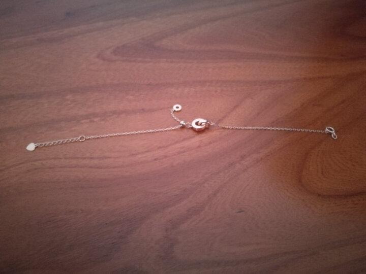 明牌珠宝 18k金手链 环扣时尚简约彩金手链 玫瑰金手链 女款 CSK0007 定价 18K金手链 约 16厘米+3厘米加长链 一口价 晒单图