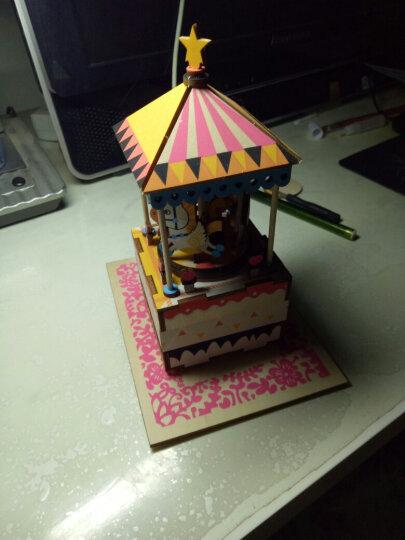 七夕情人节礼物旋转木马八音盒音乐盒表白礼物  生日礼物 女生送闺蜜送女友送老婆 创意礼品 玫瑰红色 晒单图