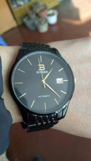 【进口机芯】爆款宾格BINGER手表全自动机械表都市超薄钢带男表男士手表商务时尚腕表 都市金色白面钢带 晒单图