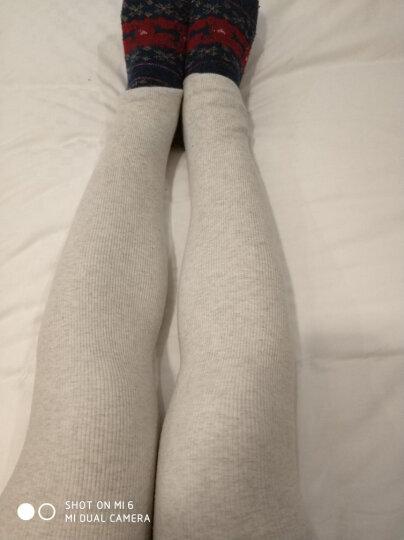 品彩秋冬季薄绒加绒加厚棉裤打底裤袜女连裤袜踩脚连袜裤修身显瘦外穿 加绒踩脚米白 晒单图