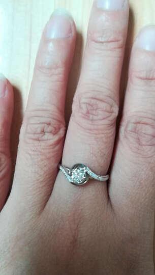 钻石小鸟 Zbird 18K金钻石戒指 14分求婚订婚结婚女款 14号 丝缠 晒单图