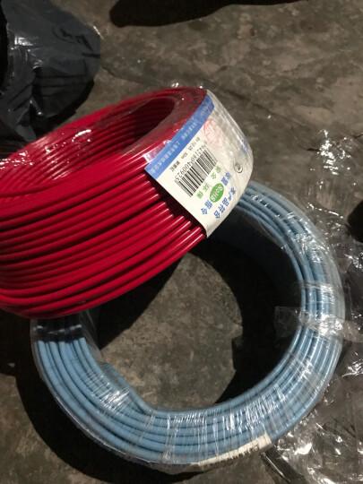熊猫电线BV4平方电线电缆线铜线 单芯硬线 绿色 50米绕包 晒单图