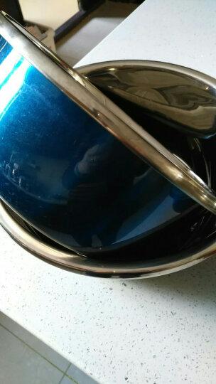 东郎 炫彩漂亮不锈钢汤盆洗菜盆厨房料理盆加厚加深 30cm绿色 晒单图