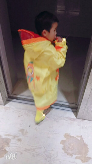 kocotree儿童雨衣雨披女孩男童透气带书包位 小学生小孩儿童雨衣 粉色升级款 L 晒单图