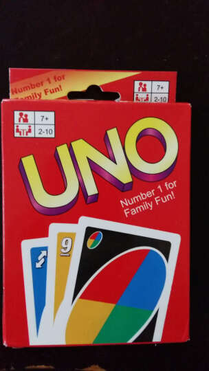 桌面扑克牌游戏280克铜版纸UNO纸牌 优诺牌乌诺牌UNO游戏牌扑克牌 普通UNO纸牌 晒单图