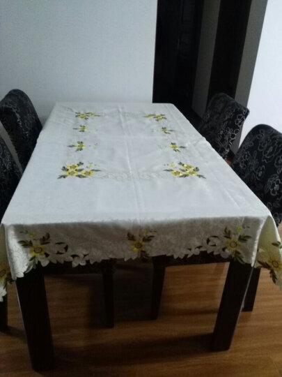 一朵绣花贡缎桌布欧式餐桌布布艺台布餐椅套餐椅垫子坐垫茶几桌布 雕绣 葵花 1个椅垫+1个靠背套(拍几把椅子数量选几) 晒单图