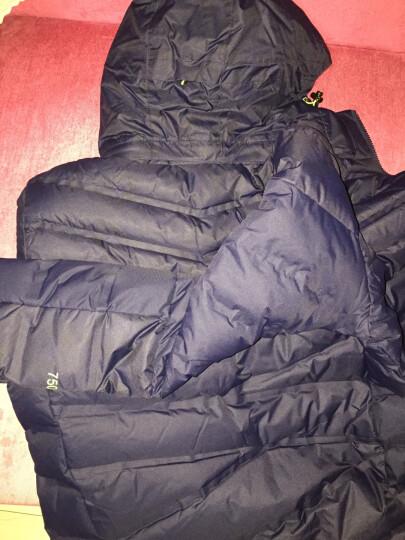 诺诗兰(NORTHLAND) 诺诗兰羽绒服男冬季户外新款灰鹅绒无缝保暖外套GD055511 海蓝色/深藏蓝色 XXL 晒单图