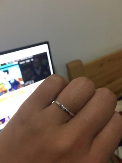 wp周六福18K金钻石戒指男女情侣款经典钻戒对戒单只 KGDB021023 18k金 现货14号 晒单图