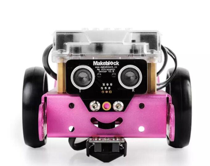 Makeblock 新版mBot教育机器人套件 可编程智能机器人 无线遥控儿童益智拼装玩具 2.4G版粉色 晒单图