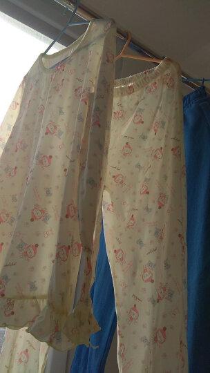 唯·路易(VIV&LUL) 唯·路易儿童睡衣套装纯棉男童家居服长袖套装女童宝宝春装睡衣 女童嫩黄款 140 晒单图