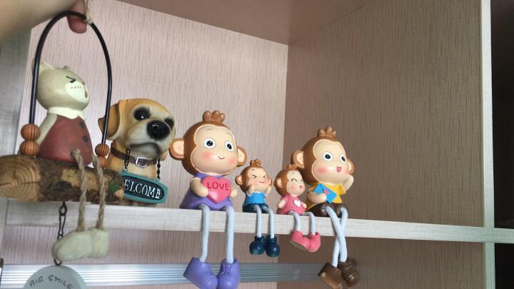 优贝家(ubaka) 一家亲吊脚娃娃装饰品摆件树脂工艺品小礼物 儿童房桌面摆件装饰品 大嘴猴之家 晒单图