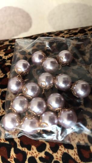 衬衫纽扣扣子 彩色珍珠钮扣金色高脚皇冠底 4#紫色10mm 一颗 晒单图