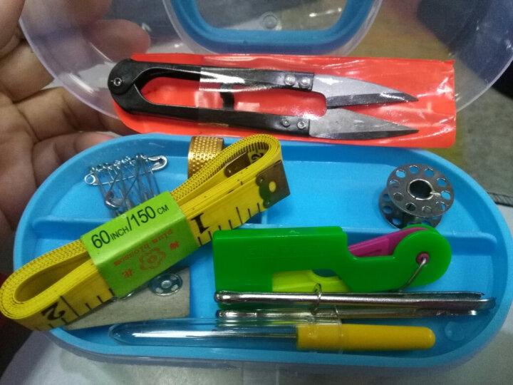 迈利达 透明收纳针线盒套装 家用缝纫修补DIY缝纫线工具 缝纫线便携式迷你针线包 蓝色 晒单图