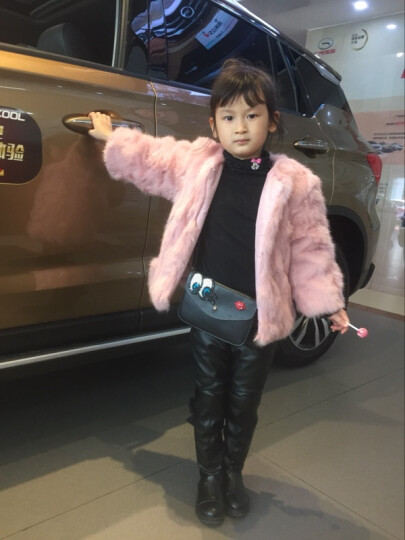 索熙(soocxi) 索熙童装女童外套儿童韩版春装风衣2018新品春秋季女宝宝上衣 真毛皮草紫色 90 晒单图