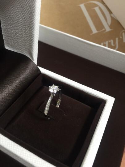 DR Darry Ring 白18K/铂金六爪女款钻戒求婚结婚戒指佩戴女正品定制 真爱钻戒 限购一枚 白 18K金 晒单图