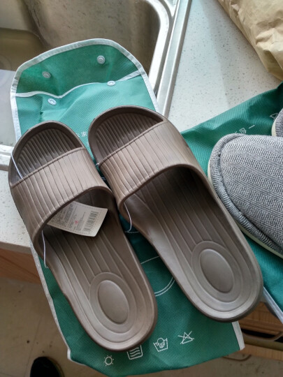 朴西 新款家居凉拖鞋夏天女士居家洗浴拖鞋男软底塑料浴室拖鞋 浅粉色 37-38(建议36-37) 晒单图