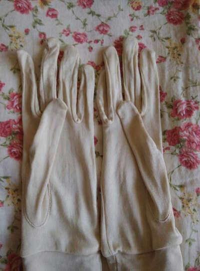 缣帛真丝手套女秋桑蚕丝女式针织手套 深灰 均码 晒单图