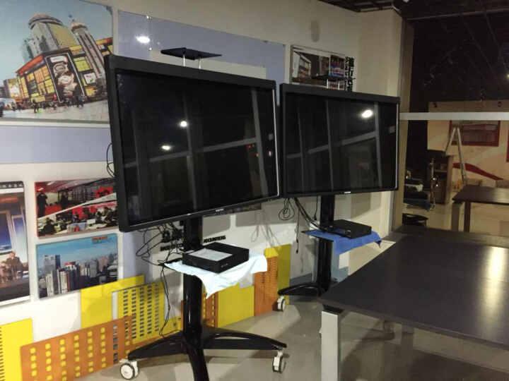 卡步特 电视架 电视挂架 移动推车 视屏会议展示架 落地支架 T001黑色32-65英寸 晒单图