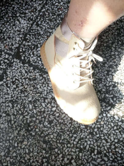 秋冬季马丁靴子男英伦风皮靴男士短筒潮流高帮工装保暖加绒棉鞋短靴男鞋 黄色加绒款 43 晒单图