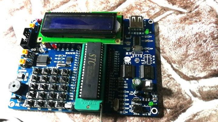 美机宝  单片机开发板 智能小车入门学习 51实验板套件 初版送液晶屏传感器 晒单图