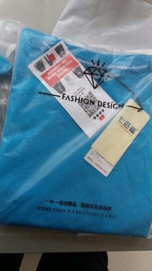 七匹鲨折扣街舞必备男女短袖T恤 ROCK 休闲纯棉印花加肥加大潮胖T恤 蓝色 4XL 晒单图