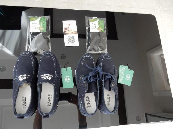 秦匠夏季帆布鞋男牛仔防滑布鞋时尚套脚老北京布鞋男士一脚蹬懒人鞋 (A05)深蓝 40 晒单图